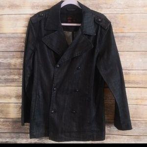 Zara Man Denim Double Breasted coat